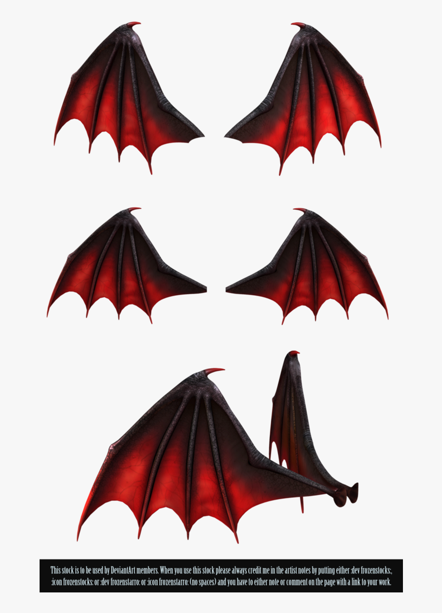 Black And Red Demon Wings Hd Png Download Transparent Png Image