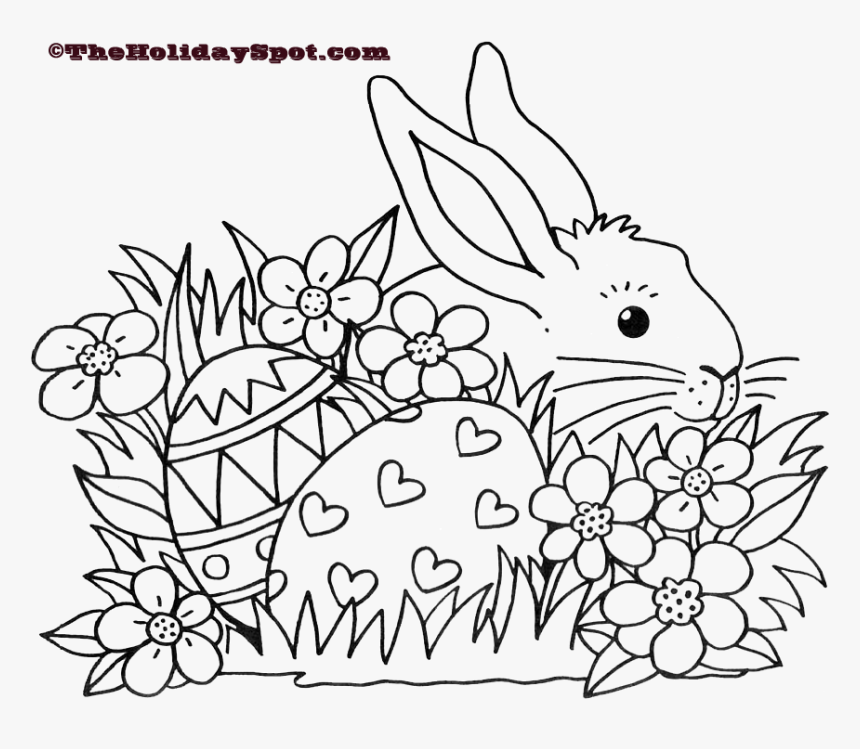 Easter Coloring Pages Black And White Blank Sheets ...