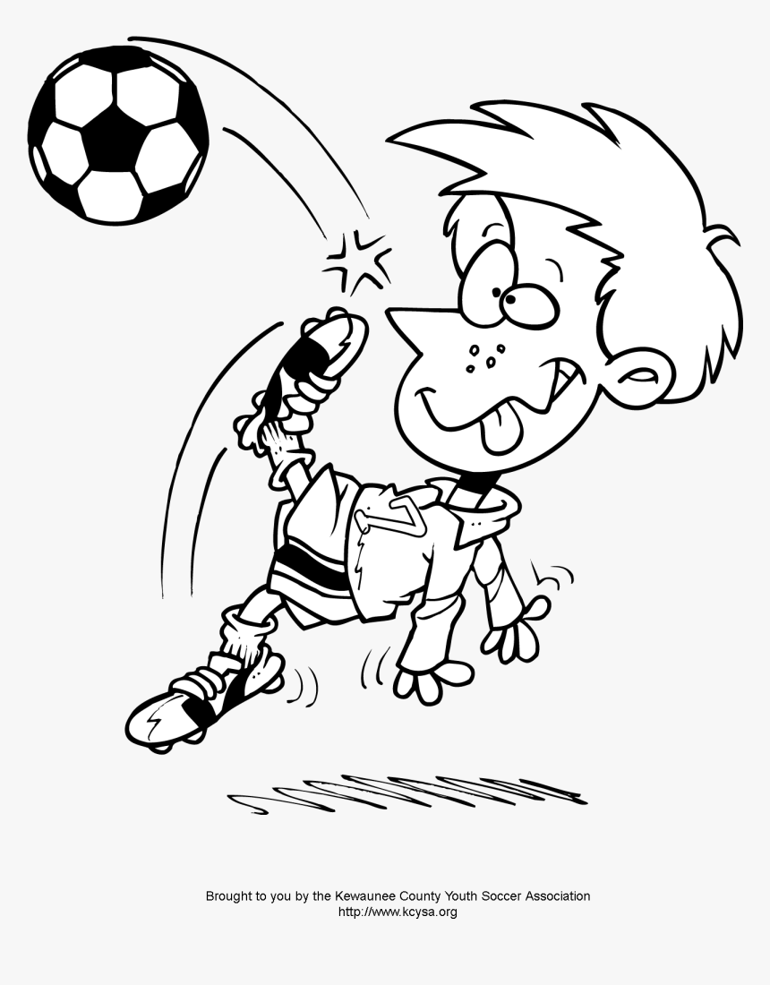- Soccer Player Coloring Pages - Soccer Coloring Pages, HD Png