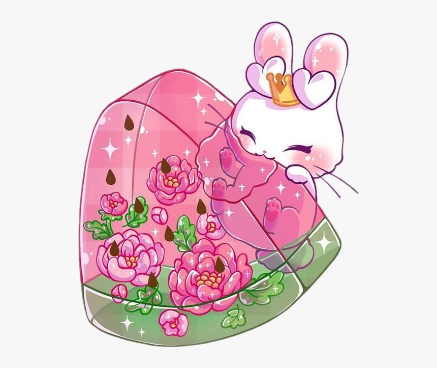 Freetoedit Cute Kawaii Rabbit Bunny Food Hungry M Jenni Art Hd Png Download Transparent Png Image Pngitem