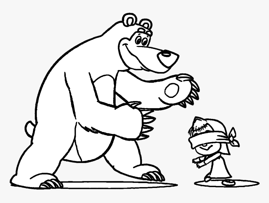 Masha And The Bear Coloring Pages, HD Png Download , Transparent Png Image  - PNGitem