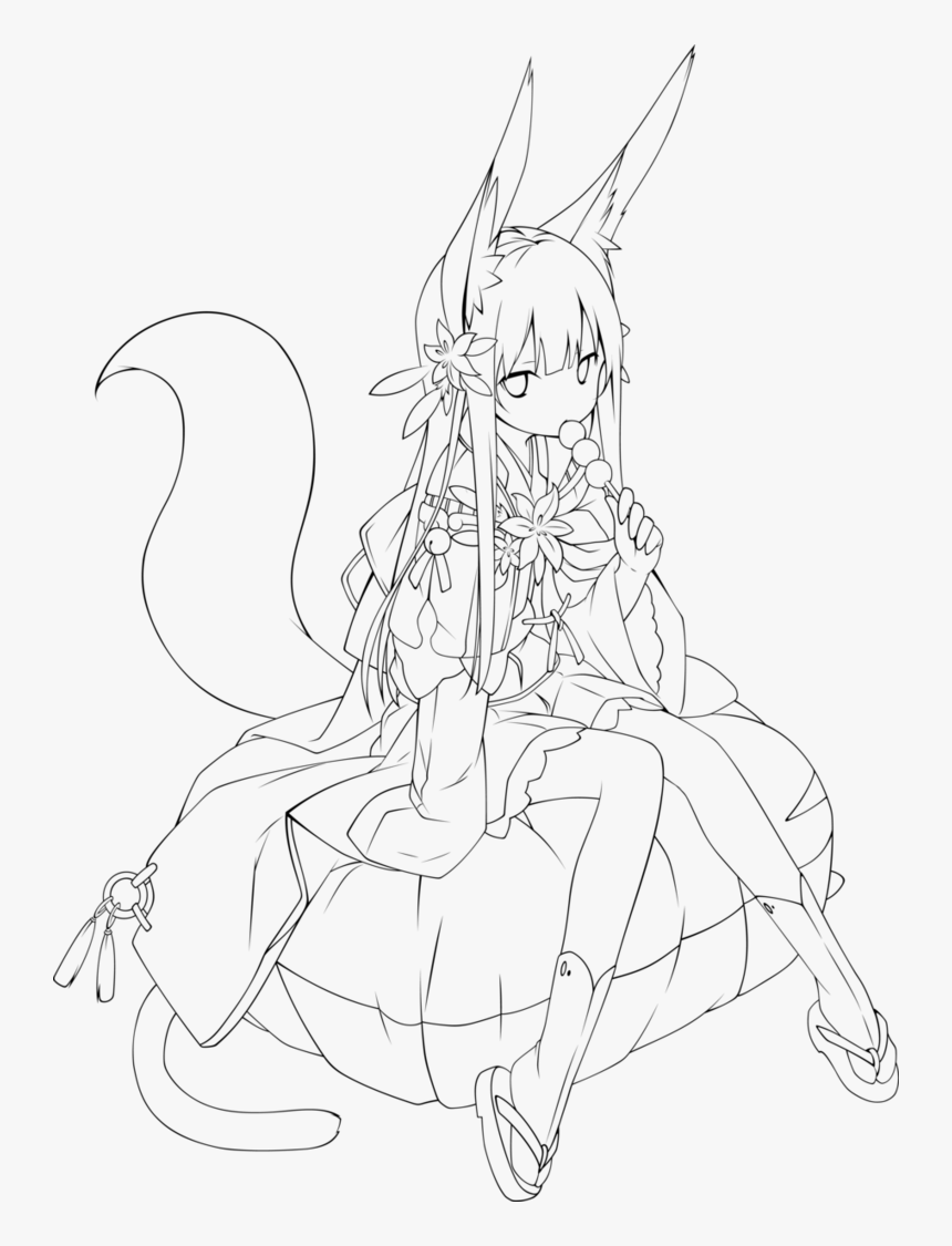 Outlines At Getdrawings Com - Anime Girl Outline Transparent, HD
