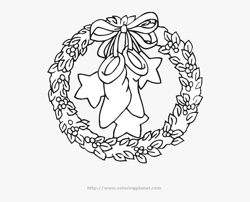 Desenho De Guirlanda De Natal Para Colorir Hd Png Download