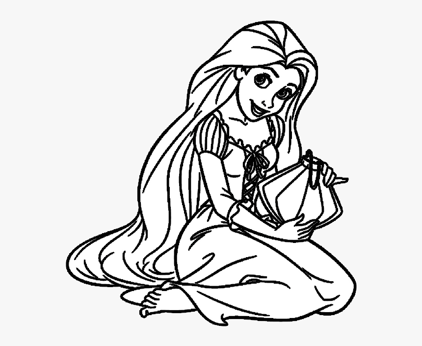 Rapunzel Para Colorir E Pintar Disney Princess Black And White