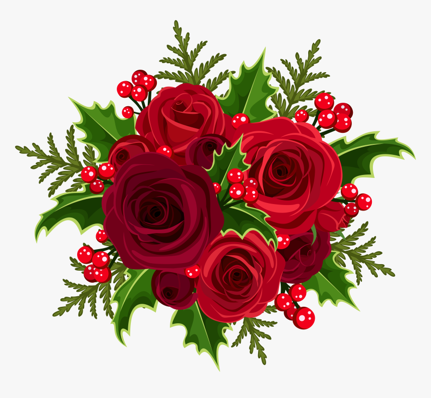 Free Christmas Flowers Cliparts, Download Free Clip Art, Free Clip Art on  Clipart Library