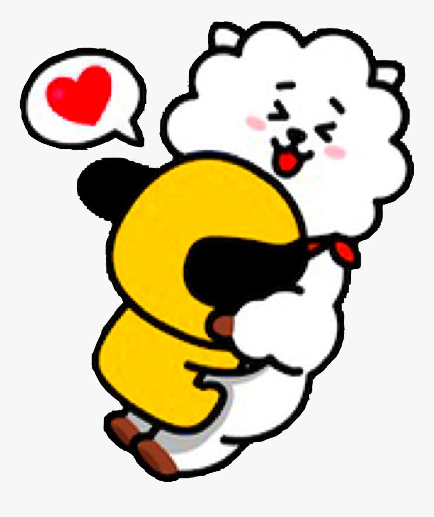 #bt21 #rj #chimmy #koya #cooky #shooky #tata #mang - Bt21 Rj And Chimmy, HD Png Download ...