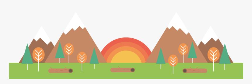 Field Sunrise Scene Png Download - Banner Camping Vector Png, Transparent Png