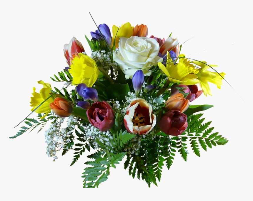 Transparent Bouquet Of Flowers Clipart Happy Birthday Flowers Clipart Png Png Download Transparent Png Image Pngitem