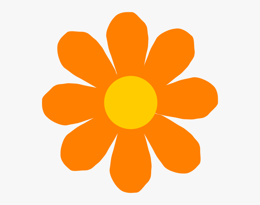 Orange Flower Clip Art Flowers Cartoon Images Png Transparent