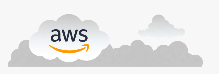 Aws Logo In A Floating Cloud Illustration Hd Png Download