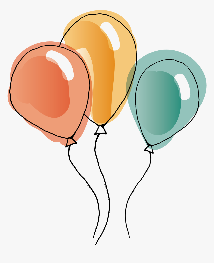 watercolor balloon vector painting download hd png - transparent background  balloons clip art, png download , transparent png image - pngitem  pngitem