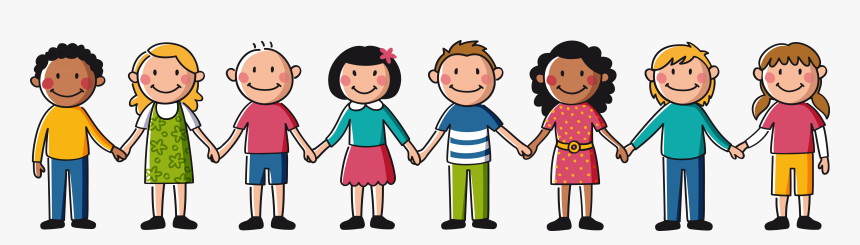 Transparent Cartoon Hand Png - Children Holding Hands Clipart, Png Download  , Transparent Png Image - PNGitem
