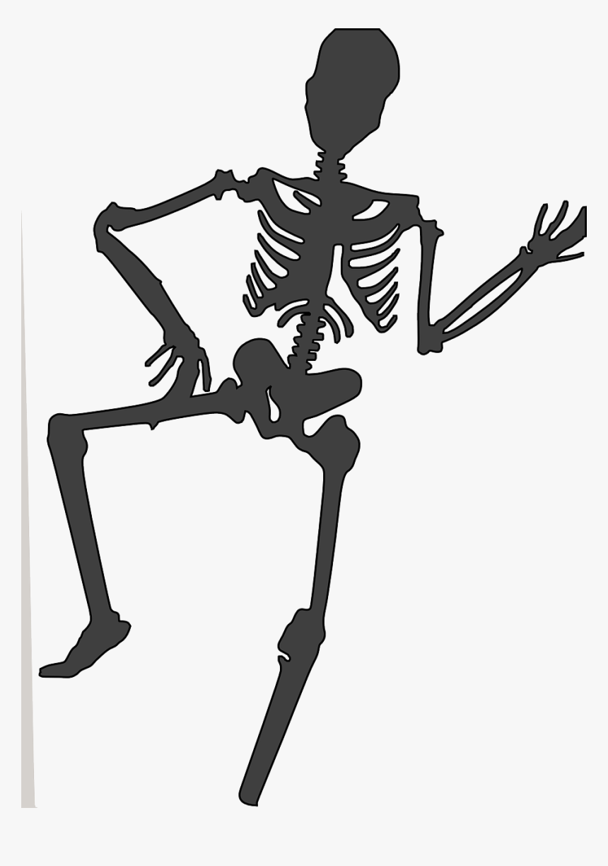 Dancing Skeleton Gif / Seamless loop animation stock footage at 30fps.