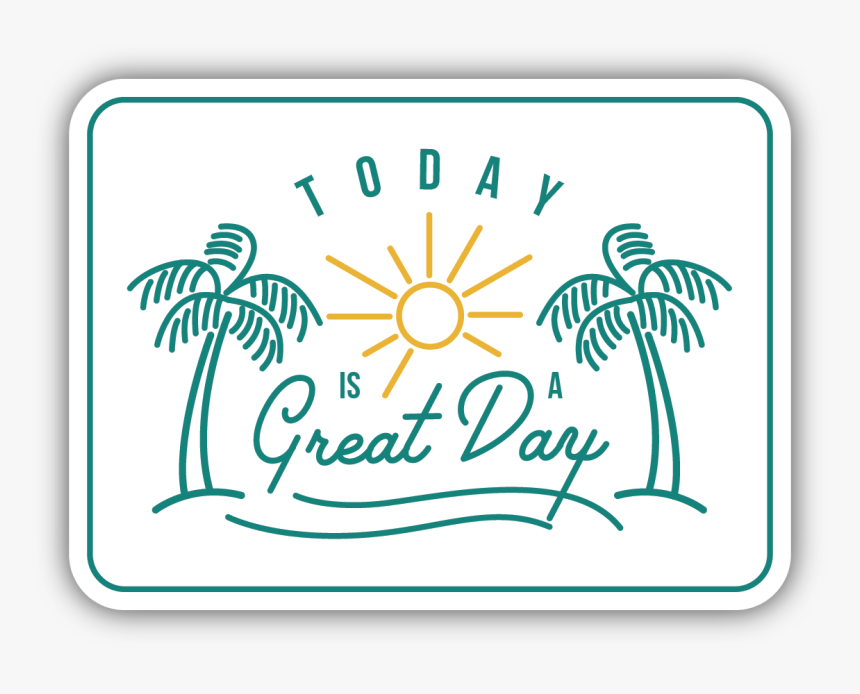 Today Is A Great Day Sticker 4 Yas Mandala Boyama Hd Png
