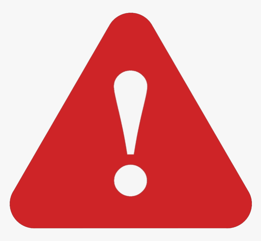 Red Attention Sign Png No Background - Warning Icon, Transparent Png