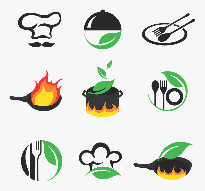 Logo Cuisine Food Restaurant Pot Leaf Dish Spoon Logo
