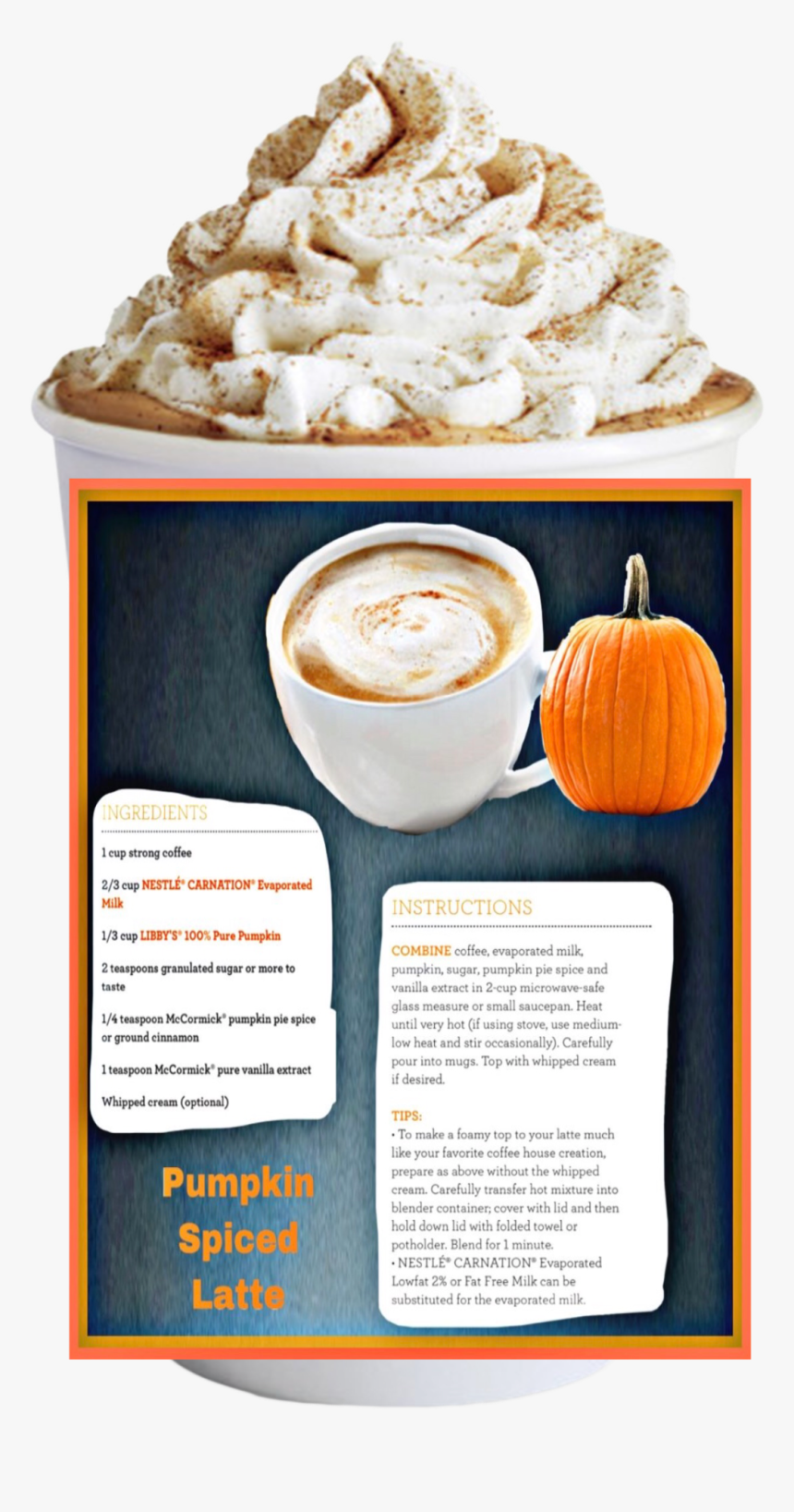 Pumpkin Spice Latte Recipe Starbucks Coffee Transparent Background Hd Png Download Transparent Png Image Pngitem