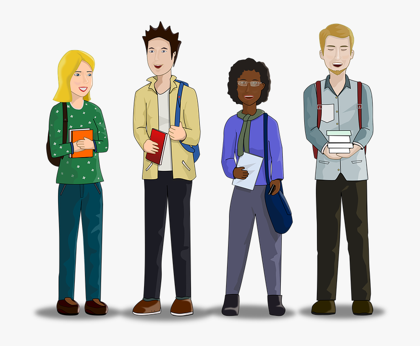 Students College University Study School Library Animated College Student Png Transparent Png Transparent Png Image Pngitem