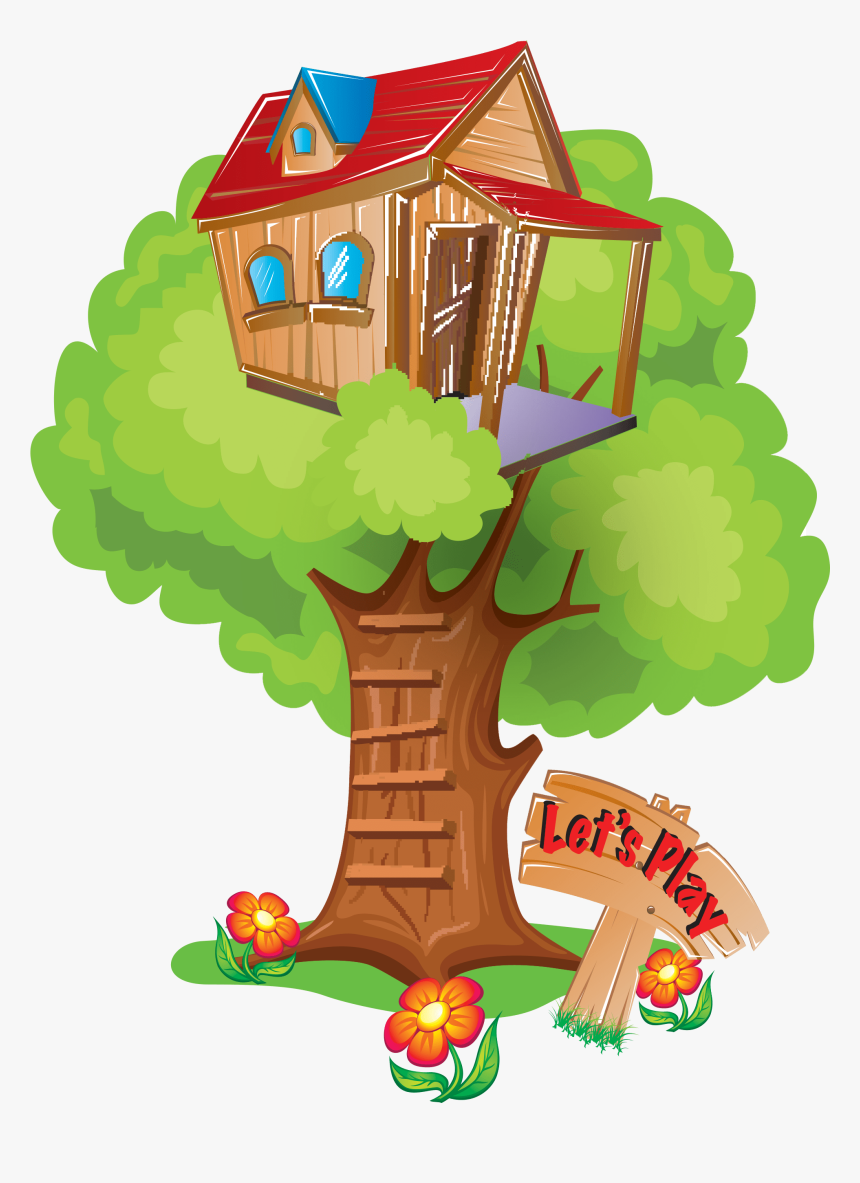 Clubhouse Clipart Tree House Kids Clubhouse Png Transparent Png Transparent Png Image Pngitem Green tree house cartoon tree plant, watercolor, paint, wet ink png. clubhouse clipart tree house kids