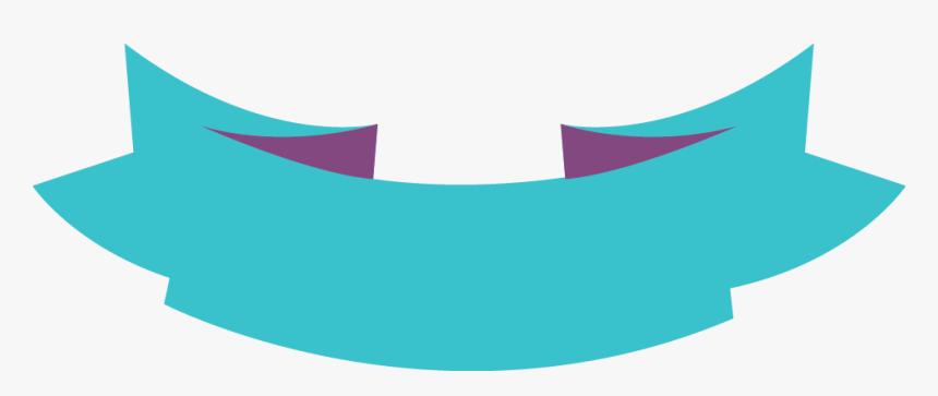 Light Blue Ribbon Banner Down Arc With Fold Wedge End Hd Png Download Transparent Png Image Pngitem