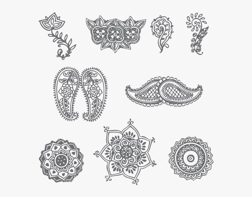 mehndi design on paper