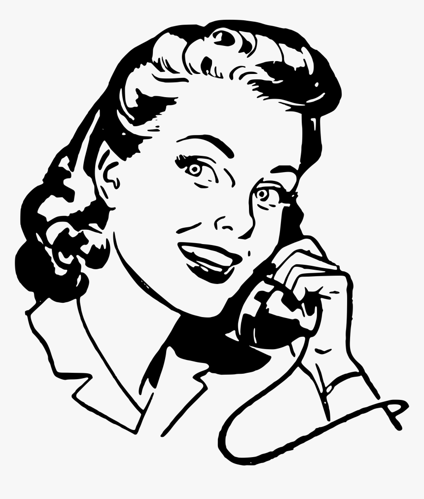 Woman On Telephone Clip Arts Retro Phone Clip Art Hd Png Download Transparent Png Image Pngitem