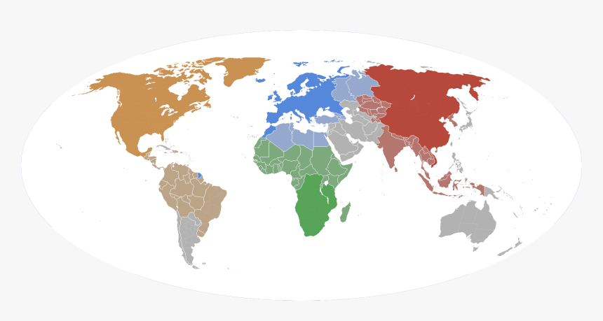 Map Of The World 1914 Future   Blank Map Of The World 1914, HD Png Download