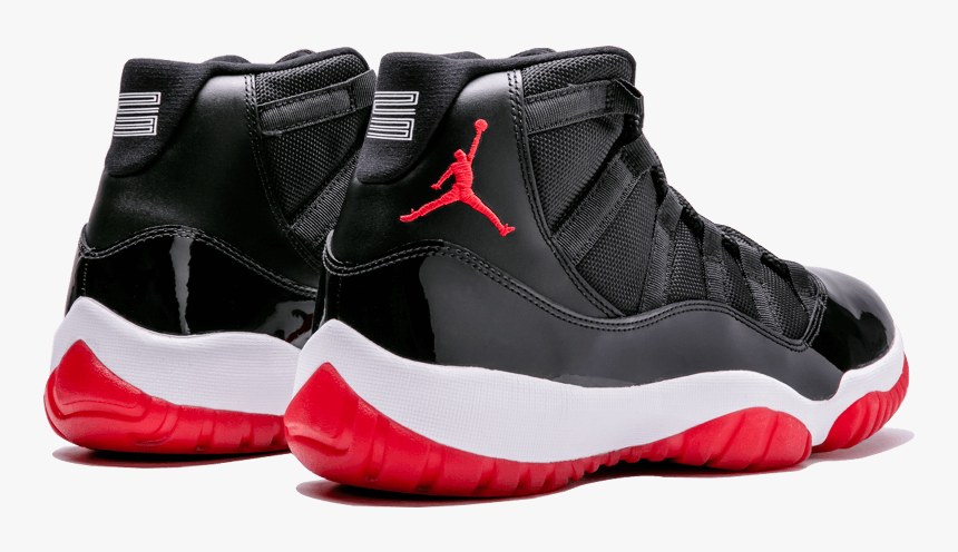 Air Jordan 11 Retro Bred Jordans Foot Locker Shoes Hd Png