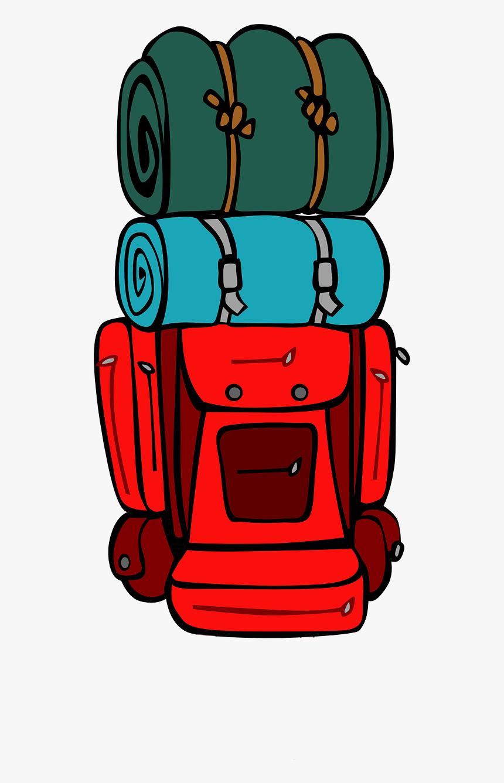 camping clipart backpack - backpacking clipart, hd png download ,  transparent png image - pngitem  pngitem