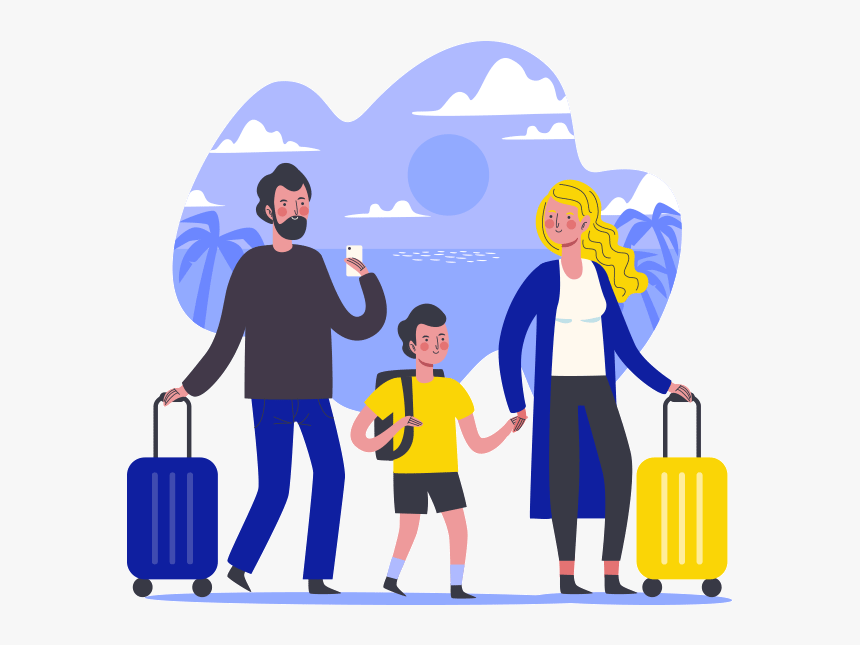 Family Travel Vector Hd Png Download Transparent Png Image Pngitem