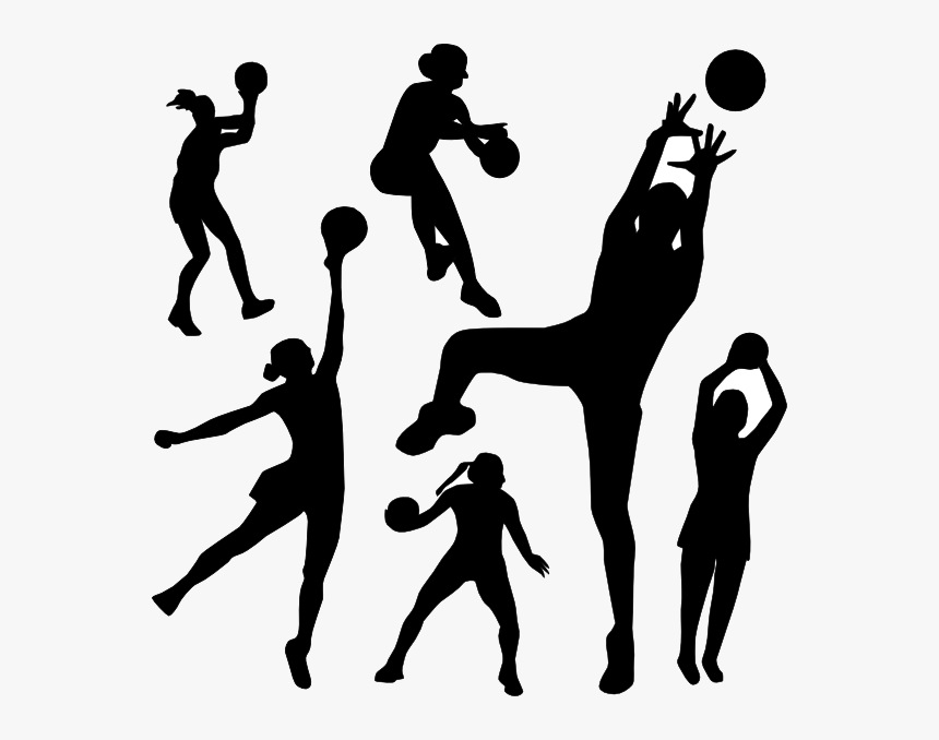 Sports Clipart Vector Netball Silhouette Clip Art Transparent Sport Clipart Transparent Background Hd Png Download Transparent Png Image Pngitem
