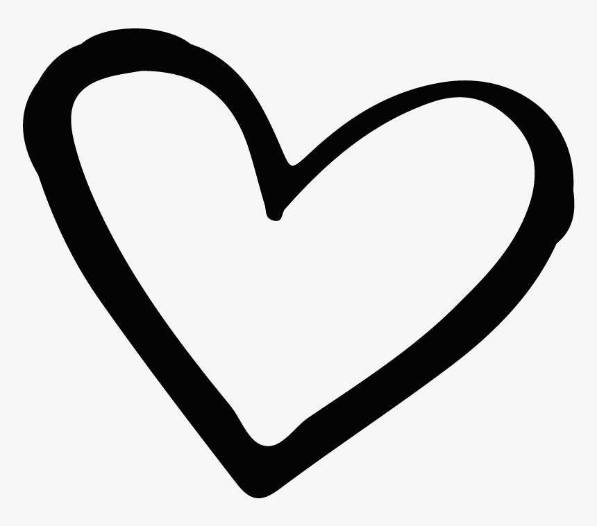 And White Heart Black Heart Transparent Background Hd Png