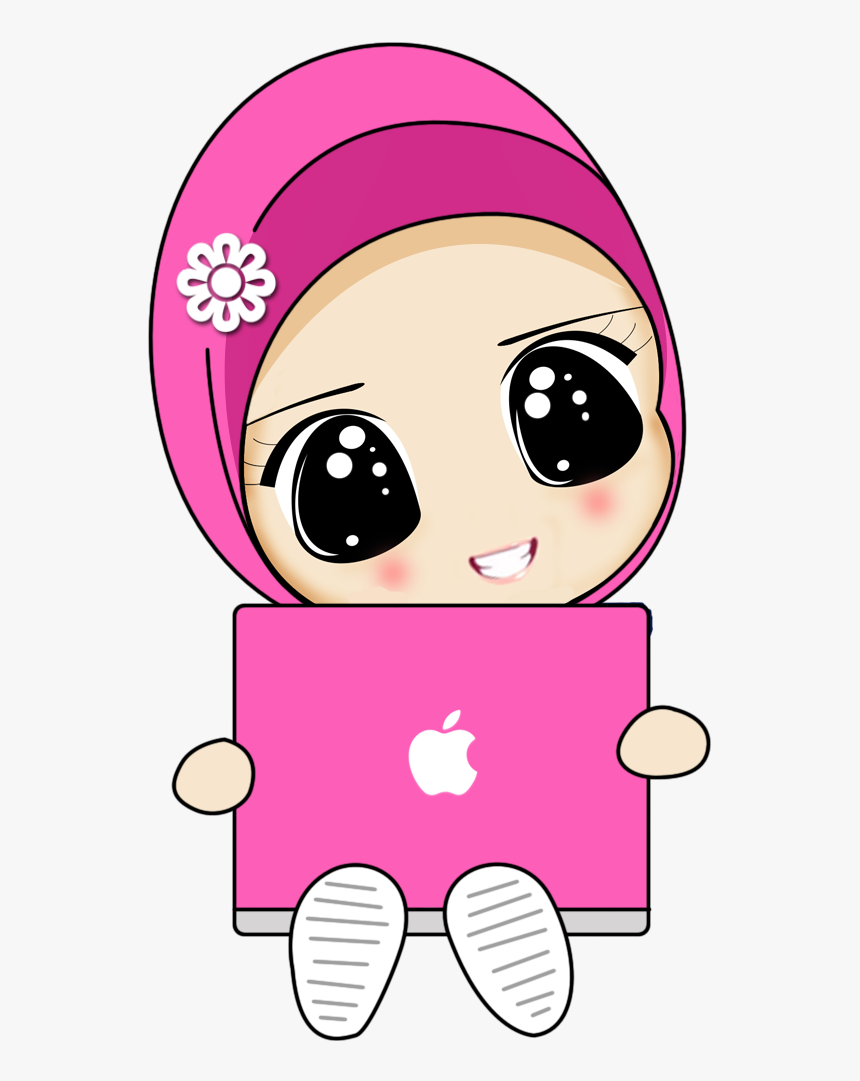 Satire Drawing Islam Cute Cartoon Muslimah Girl Hd Png Download