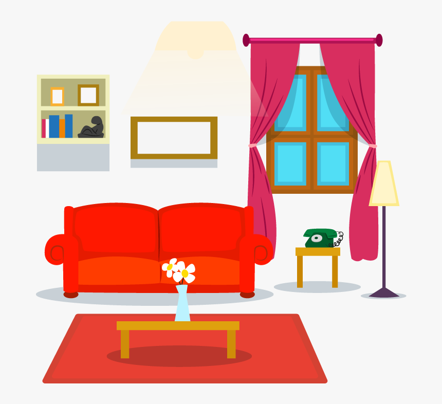 Couch Clipart House Interior Living Room Cartoon Transparent Hd Png Download Transparent Png Image Pngitem