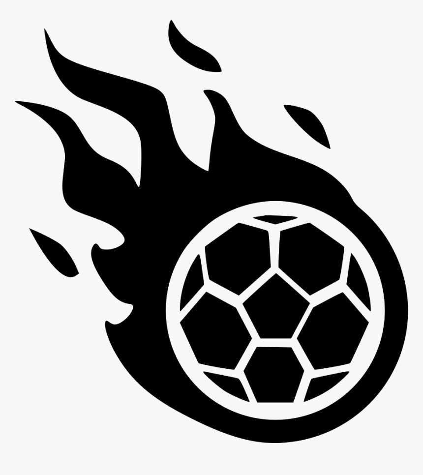 Fire Game Foot Soccer Fly Svg Png Icon Free Download Football On Fire Clipart Black And White Transparent Png Transparent Png Image Pngitem