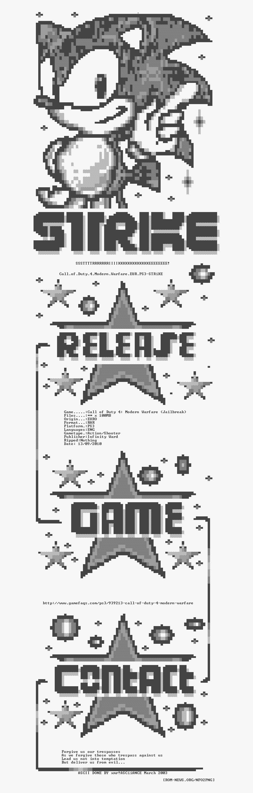 Call Of Duty 4 Modern Warfare Eur Ps3 Strike Poster Hd Png Download Transparent Png Image Pngitem