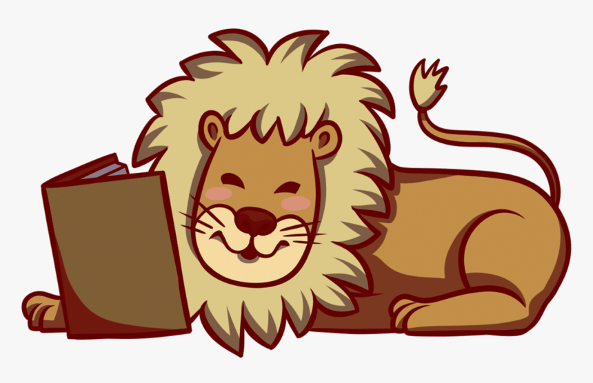 Free Book Clipart, Transparent Book Images And Book - Lion Reading ...