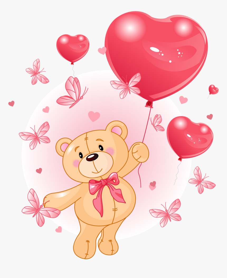 Imagenes De Ositos Bear With Heart Hd Png Download