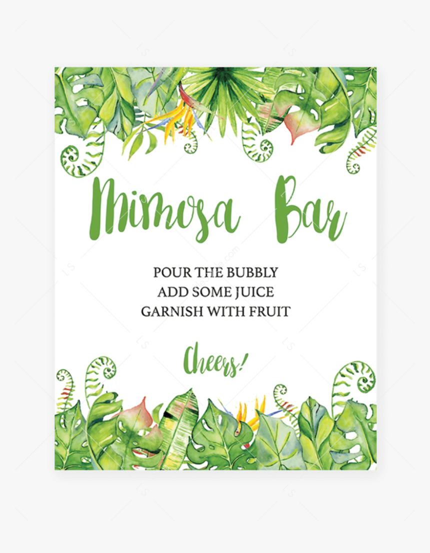 This is a picture of Mimosa Bar Sign Printable Free regarding flower