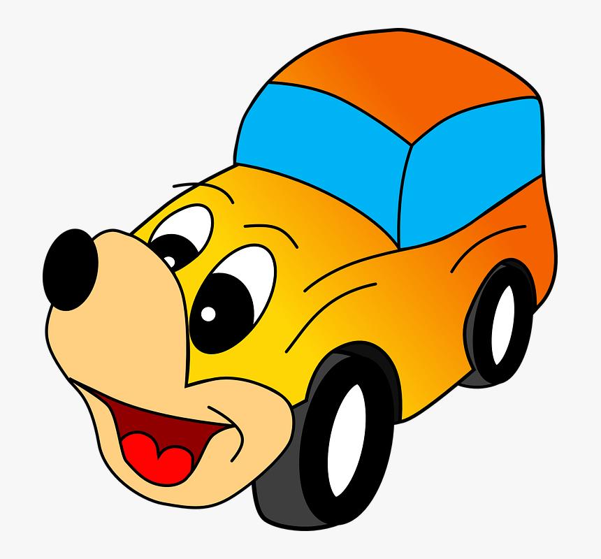 Carro Desenhos Animados Cao Rosto Engracado Taxi Funny