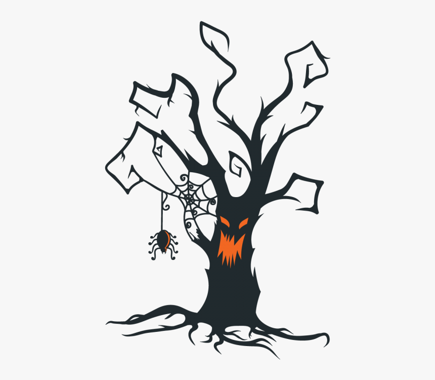 The Halloween Tree Clip Art Halloween Creepy Tree Silhouette Hd Png Download Transparent Png Image Pngitem