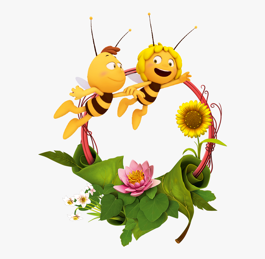 A Bee On Sunflower Clip Art