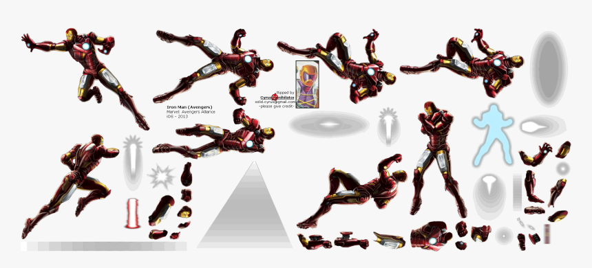 Click To View Full Size Iron Man Sprite Sheet Fly Hd Png Download Transparent Png Image Pngitem