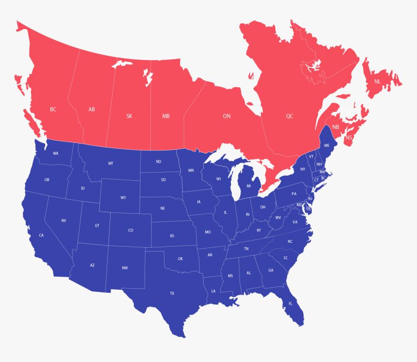 Usa And Canada Map Png Usa And Canada Map Png, Transparent Png , Transparent Png Image