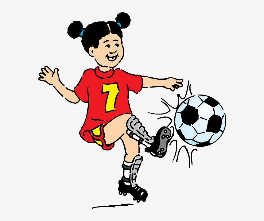 Footballer Girl Female Playing Football Clipart Hd Png Download Transparent Png Image Pngitem
