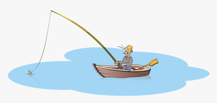 Transparent Fisherman Clipart Fishing Boat Cartoon Png Png Download Transparent Png Image Pngitem