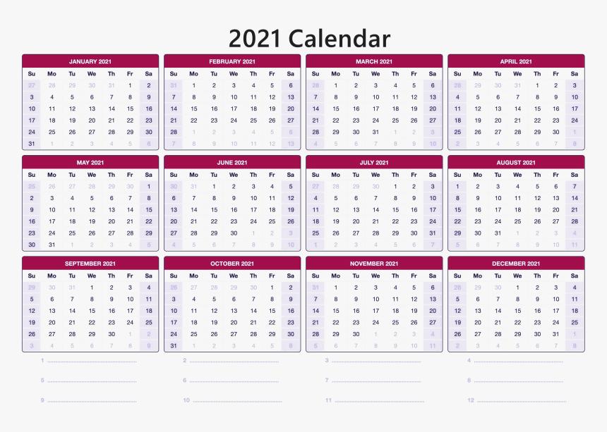 12 Month 2021 Calendar Images | Calendar 2021