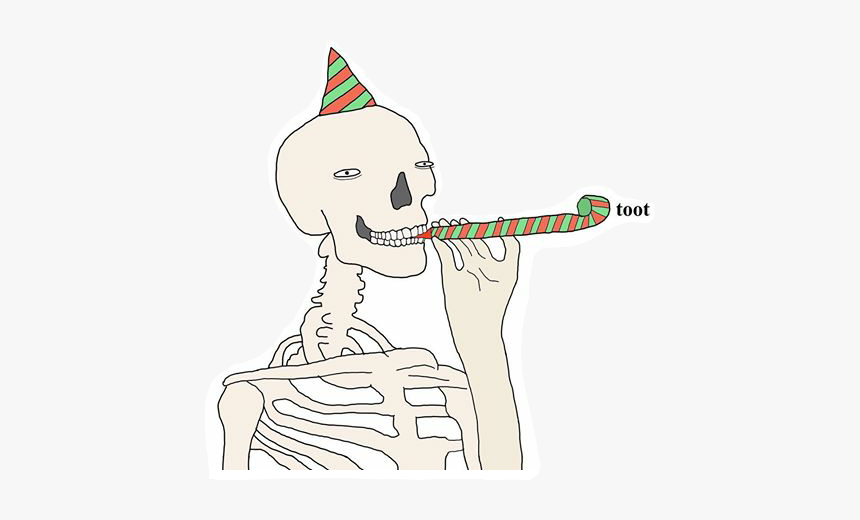 Spoopy Spooky Halloween Skeleton Toot Celebrate All Hallows Eve Meme Hd Png Download Transparent Png Image Pngitem