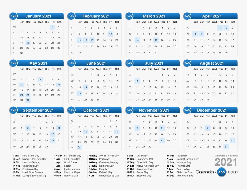 Calendar 2021 Png Photos   2018 Calendar With Week Numbers Uk