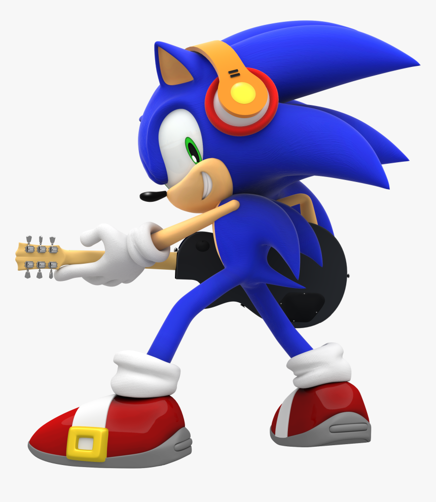 Le Ts Go Playing Musica With Me Too Sonic The Hedgehog Wearing Headphones Hd Png Download Transparent Png Image Pngitem
